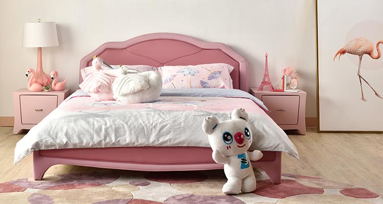 慕思儿童粉色系儿童床解析